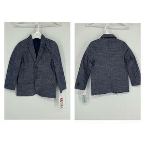 Cat & Jack Boys' Chambray Suit Jacket Navy